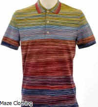 Missoni BJ014 Stripe Polo Red