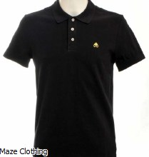 Moose Knuckles Logo Polo Black