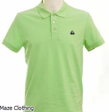 Moose Knuckles Logo Polo Lime