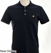 Moose Knuckles Logo Polo Navy