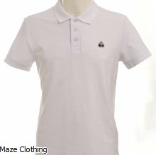 Moose Knuckles Logo Polo White