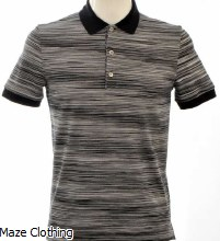 Missoni Stripe Polo Black