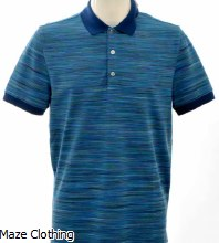 Missoni Stripe Polo Blue