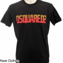 DSquared Retro T Shirt Black