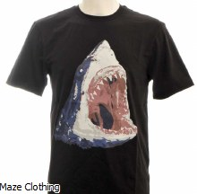 Untitled Atelier Shark T Shirt Black