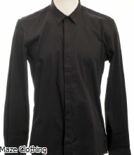 Antony Morato Hidden Placket Shirt Black