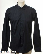 Antony Morato Hidden Placket Shirt Navy