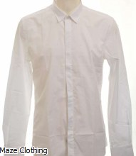 Antony Morato Hidden Placket Shirt White