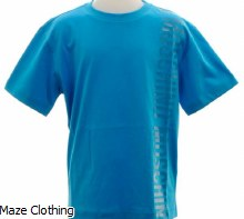 Moschino Kids Side Logo T Shirt Blue