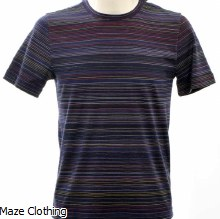 Missoni Stripe T Shirt 037 Navy