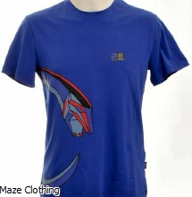 Cavalli Class Rainbow Serpent Tee Royal