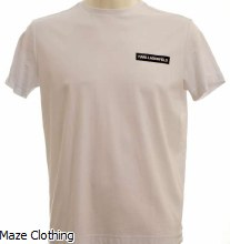 Lagerfeld Logo T Shirt White
