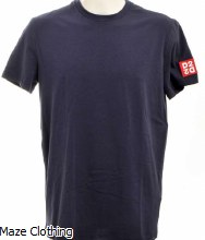 DSquared2 D2 Sleeve Logo Tee Navy