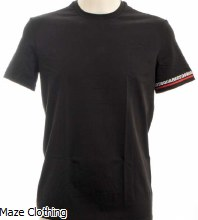 Dsquared Logo Band T Shirt Black