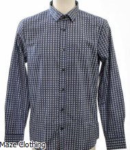 Matinique Trostol B5 Geo Shirt Navy