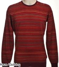 John Smedley Watson Striped Knit Burgundy