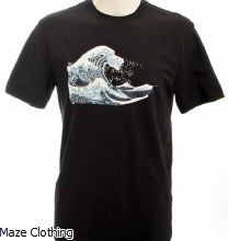 Untitled Atelier Wave T Shirt Black