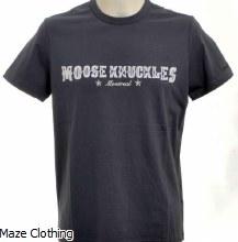 Moose Knuckles Western Script Tee Grey