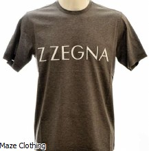 Zegna Logo T Shirt Grey