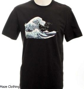 Untitled Atelier Wave T Shirt Black