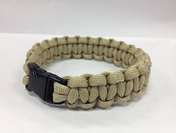 Paracord Bracelet, Solid Tan