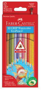 Faber-Castell Color Grip Watercolor 12 Piece