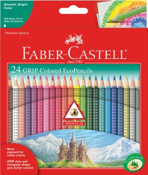 Faber-Castell Colored EcoPencils Grip 24 Piece