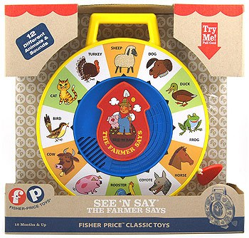 Fisher Price Classic Farmer Says See /'n Say Learning Educational  Kids Toys