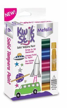 Kwik Stix Tempera Paint Sticks - 6 Metallic Colors