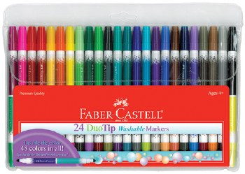 Duo Tip Washable Markers Set of 24 - Faber-Castell