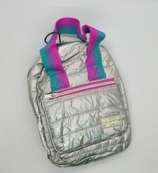 Mini Backpack Puffer-Silver