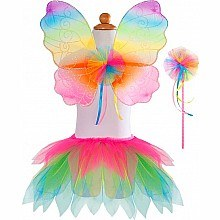 Neon Rainbow Skirt/Wings