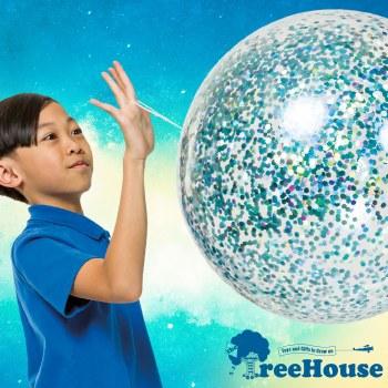 Jumbo Glitter Jelly Ball