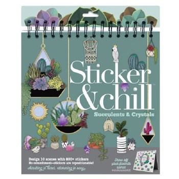 Sticker & Chill:Succulents/Cry
