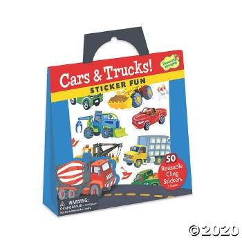 Sticker Tote-Cars and Trucks