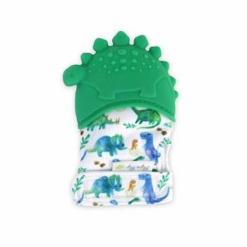 Itzy Mitzies Teething Mitt - Dinosaur