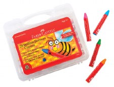 Faber-Castell Brilliant Beeswax Crayons in Case 24 Pc