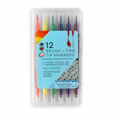 iHeart Art 12 Brush Tip and Fine Tip Markers