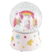 Musical Snow Globe Unicorn