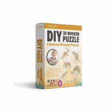DIY 3D Dinosaur Wooden Puzzles