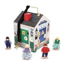 Deluxe Wooden Doorbell House - Melissa & Doug