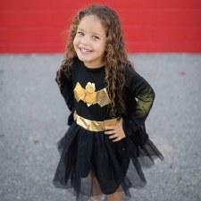 Bat Girl Dress/Cape Set