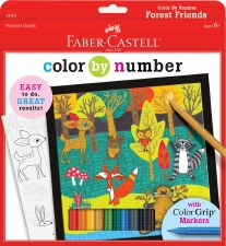 Color By Number-Forest Friends
