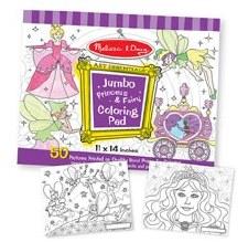 Coloring Pad Jumbo-Princ/Fairy