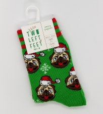 Holiday Kid's Socks-Pugmas S/M