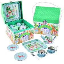 Jungle Tin Tea Set