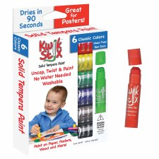 The Pencil Grip Kwik Stix Solid Tempera Paint, Super Quick Drying, 6 Pack