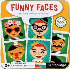 Magnetic Play Set-Funny Faces