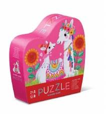 Mini Puzzle 12 Piece Llama Luv