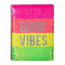 Neon Sequin Good Vibes Journal